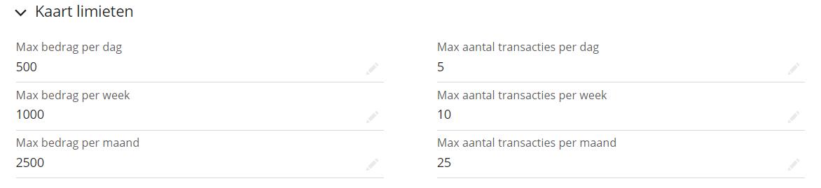 Hoe stel ik een maximum bestedingsbedrag op een tankpas in?
